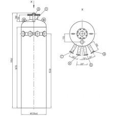 Колонка деаэраторная КДА-15